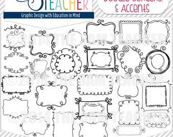 Sweet Doodle Frames, Borders, & Accents: MEGA PACK