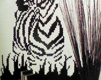 Vintage Crocheted Zebra Afghan Pattern
