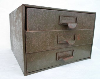 Industrial Storage Cabinet, Green, Metal, Utility Cabinet, Vintage, Hardware Store, Shop, Bins, Drawers, Rusty, Filing, Parts, Steampunk