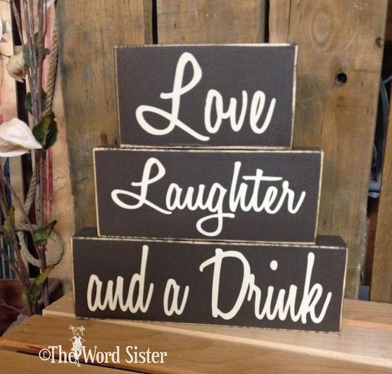 items similar to fun home decor wood word blocks love items similar to rustic word blocks home decor choose