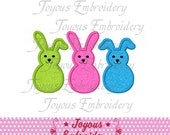 Instant Download Easter Bunnies Applique Machine Embroidery Design NO:1480