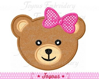 Instant Download Girl Teddy Bear Applique Embroidery Design NO:1543