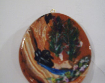 Waterfall with Duck Pendant