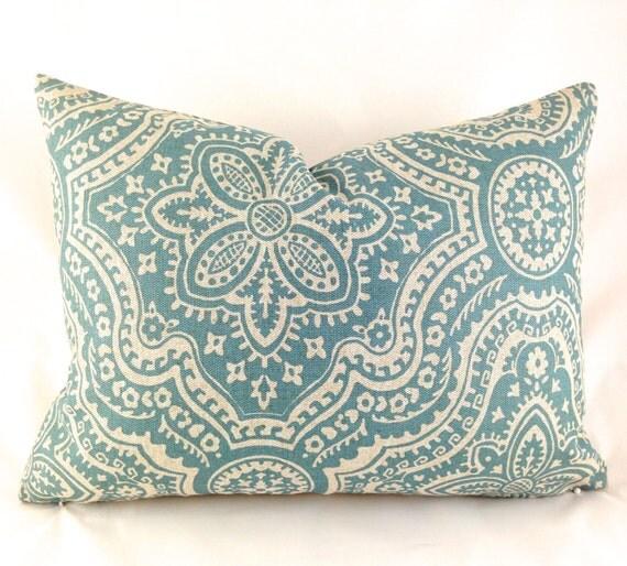 Lumbar Pillow Covers Decorative Pillows Blue by MyPillowStudio
