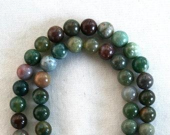 8 mm Blood Agate Semi Precious Gemstone Beads