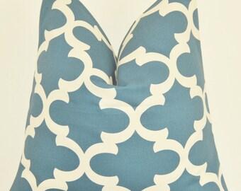 Blue Pillow, Geometric Pillow, Decorative Pillow, Throw Pillow, Toss Pillow, Blue Geometric, Peacock Blue, Home Furnishing, Home Decor