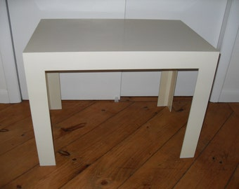 Vintage White Parsons Table
