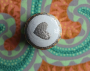 knobs, heart knobs, funky decor, unique knob, decorative knobs, painted furniture, wood furniture, upscale furniture, modern decor, knobs.,