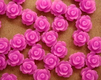 30 pc. Creamy Lilac Rose Cabochon 10mm | RES-387