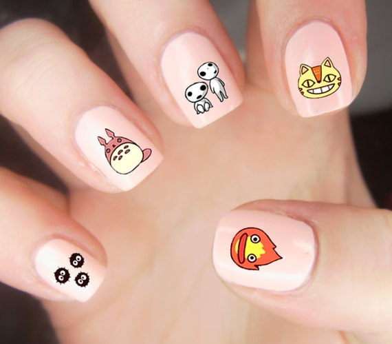 36 Studio Ghibli Nail Decals