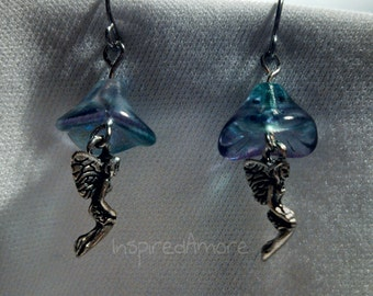 Fairy flower earrings