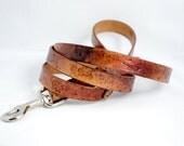 Rugged Leather Dog Leash
