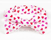 Boy's, Girl's Bow Tie, Newborn, Baby, Child- Hearts, Pink, Red, Polka Dots (2-3 Business Day Processing)