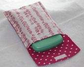 Diaper and Wipe Clutch - Pink Flowers