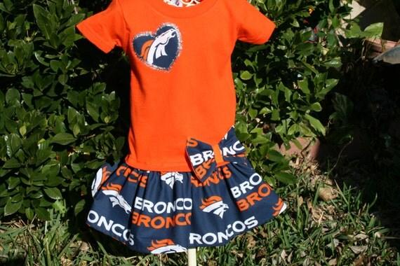 12 mo Baby Girls Denver Broncos Tshirt Dress by