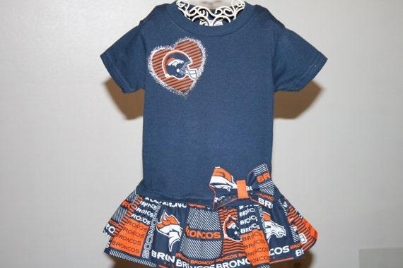 Items similar to 2T Baby Girls DENVER BRONCOS Tshirt Dress