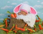 Crochet Bunny hat. Easter bunny hat.