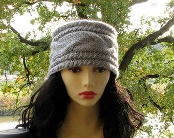Knit headband, knit ear warmer, knitted headband, cable knit headband, cable headband, winter accessory Choose Color