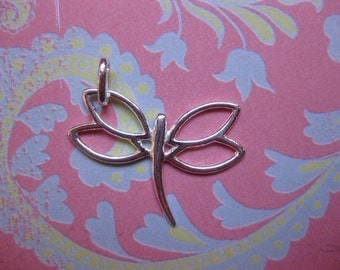 SS Dragon fly Charm dragonfly  charm supplies SS charm supplies  charms large