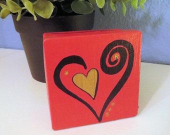Open Heart Design CUSTOM COLOR Small Square Keepsake, Jewelry Box or Gift Box