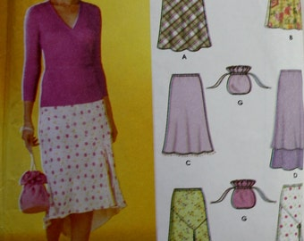 Pull On Bias Skirts /Simplicity 7090 Sewing Pattern/ Size 4-10