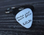 Father of the Bride, Personalized Guitar Pick, Gift for Dad, Hand Stamped Guitar Pick, Anniversary Gift for Him, Groomsmen Gifts