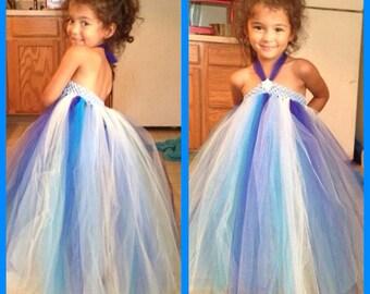Flower girl tutu dress long tutu dress