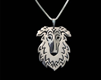 Borzoi - sterling silver pendant and necklace