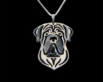 English Mastiff - sterling silver pendant and necklace