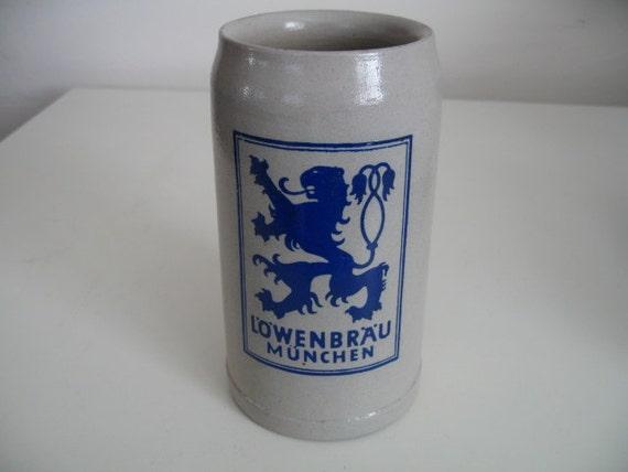 Lowenbrau Munchen One Liter Stein