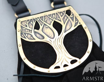 """Elven Fantasy Medieval Suede Hip Bag """"Knight of the West"""""""