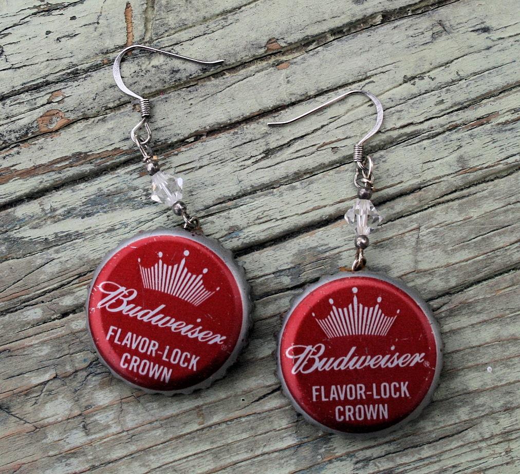 Budweiser Beer Flavor Lock Crown Bottle Cap By PopCanCreations