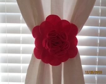 Flower Curtain Tie-backs Set of 2