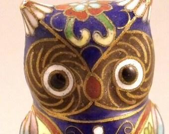 Collectors Cloisonne Owl Figure