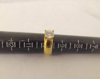 Gold/diamond 3/4+ carat 9 1/2 ring...FREE shipping!!!