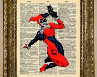 Harley Quinn Batman Dictionary Art