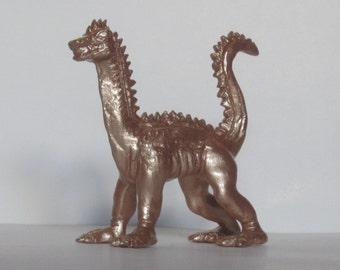 Copper Lizard Statue