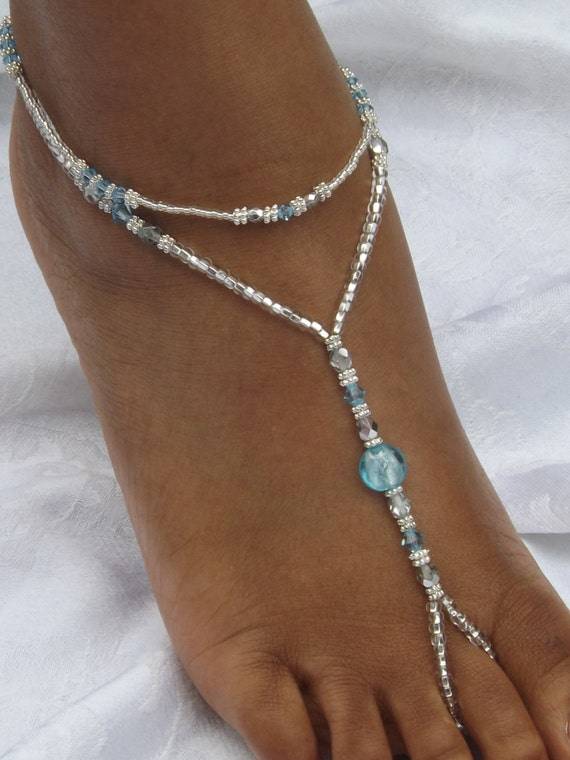 Items similar to Blue Foot Jewelry Beach Wedding Barefoot ...