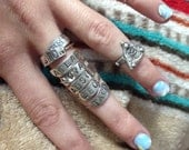 Nameplate ring sterling silver