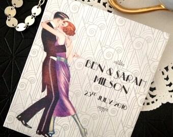 "1920s GREAT GATSBY Art Deco ""Purple Diamonds"" High Tea Bag Wedding or High Tea Favors- Including Tea Bag"