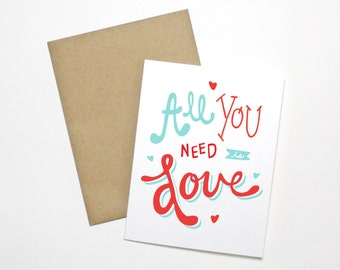 Love Card- All You Need is Love