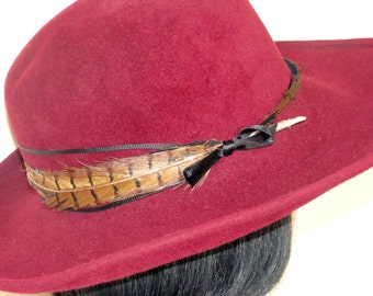 60's Feather & Fur Felt Hat Capeline