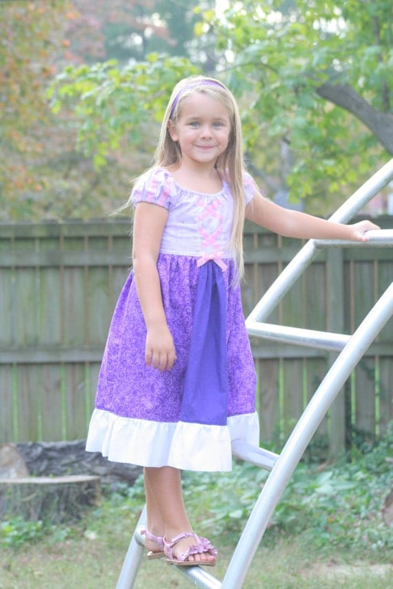 Tangled Inspired Disney Dress for little girls