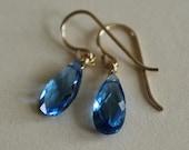 Sapphire Drop Earrings  -...