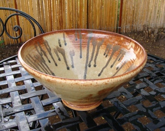Rustic Pottery Serving Bowl