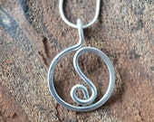 Yin Yang - Pendant - Necklace - Silver Colored -  Aluminum Wire