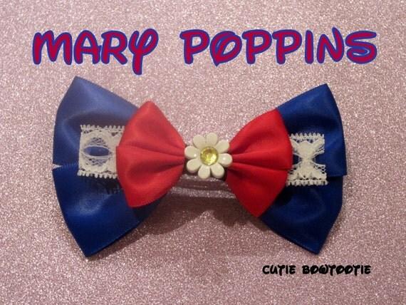 Mary Poppins Hair Bow Disney Inspired