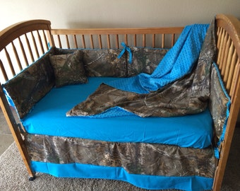 Realtree minky 5 PC crib set