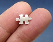 Tiny sterling silver earring. Puzzle post earring, sterling silver puzzle ear studs, mother's day gift