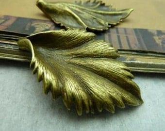 5PCS 28x42mm  Bronze  Leaf  Charm   -  antique bronze charm pendant  Jewelry Findings
